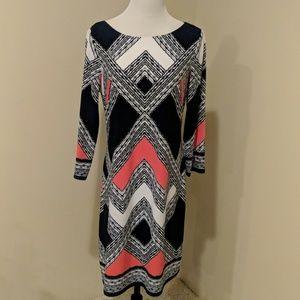 Vince Camuto multi color dress Size 12